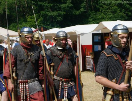men on historical reconstruction of military events