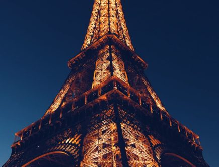 low angle photo of eiffel tower